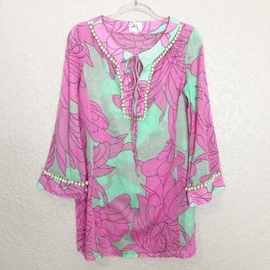 EUC Original Milly of NY floral cotton tunic dress